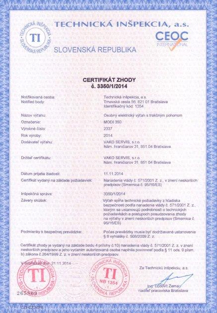 Certifikát zhody